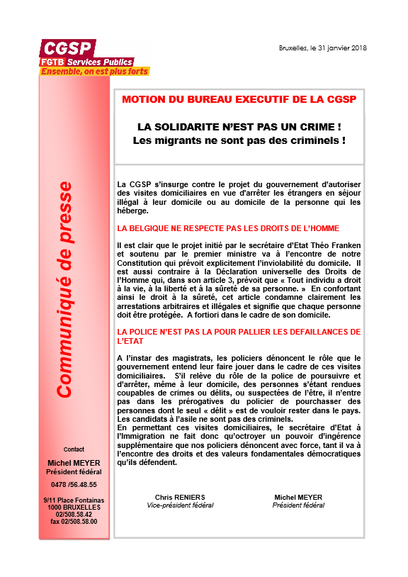 la solidarite nest pas un crime_CGSP
